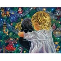 "SunsOut (35810) - ""A Christmas Puppy"" - 300 brikker puslespil"