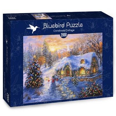 "Bluebird Puzzle (70065) - Nicky Boehme: ""Christmas Cottage"" - 2000 brikker puslespil"