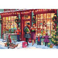 """Gibsons (G6252) - """"Christmas Toy Shop"""" - 1000 brikker puslespil"""