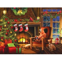 "SunsOut (28816) - Tom Wood: ""Dreaming of Christmas"" - 1000 brikker puslespil"