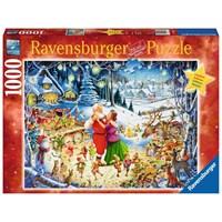 "Ravensburger (19893) - ""Santa's Christmas Party"" - 1000 brikker puslespil"