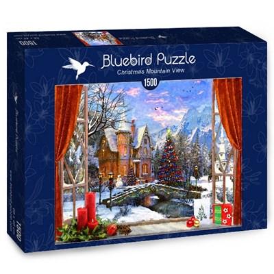 "Bluebird Puzzle (70190) - Dominic Davison: ""Christmas Mountain View"" - 1500 brikker puslespil"