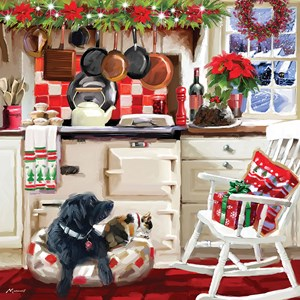 "Otter House Puzzle (74138) - Richard Macneil: ""Christmas Kitchen"" - 1000 brikker puslespil"
