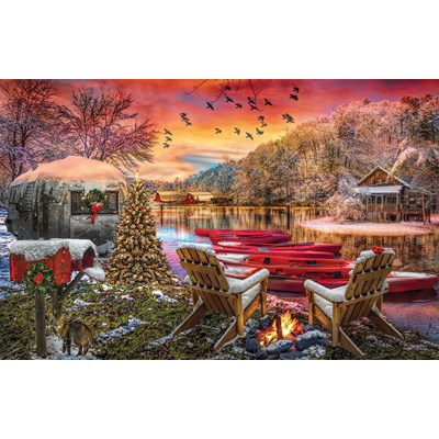 "SunsOut (30141) - ""Christmas Eve Camping"" - 1000 brikker puslespil"