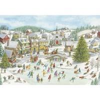 """Ravensburger (15290) - """"Playful Christmas Day"""" - 1000 brikker puslespil"""