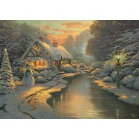 "Schmidt Spiele (59492) - Thomas Kinkade: ""On Christmas Eve"" - 1000 brikker puslespil"