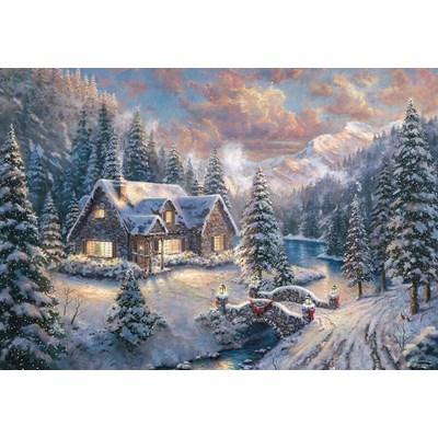 "Schmidt Spiele (59493) - ""High Country Christmas"" - 1000 brikker puslespil"
