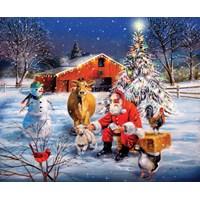 "SunsOut (37996) - R.J. McDonald: ""Santa at the Farm"" - 300 brikker puslespil"