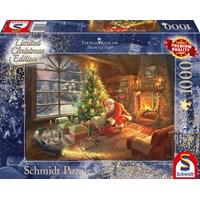 """Schmidt Spiele (59495) - Thomas Kinkade: """"Santa's Special Delivery"""" - 1000 brikker puslespil"""