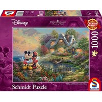 "Schmidt Spiele (59639) - Thomas Kinkade: ""Sweethearts Mickey & Minnie"" - 1000 brikker puslespil"