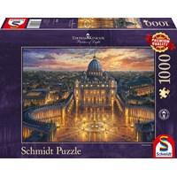 "Schmidt Spiele (59628) - Thomas Kinkade: ""Vatican Sunset"" - 1000 brikker puslespil"
