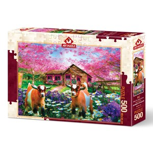 """Art Puzzle (4577) - """"When the Spring Comes"""" - 500 brikker puslespil"""