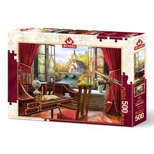 "Art Puzzle (5074) - ""Study View"" - 500 brikker puslespil"