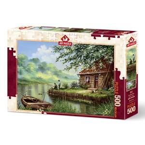 """Art Puzzle (5071) - """"Evening Hook"""" - 500 brikker puslespil"""