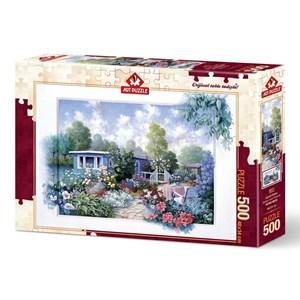 """Art Puzzle (4211) - """"Garden with Flowers"""" - 500 brikker puslespil"""