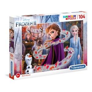 "Clementoni (20162) - ""Disney Frozen 2"" - 104 brikker puslespil"
