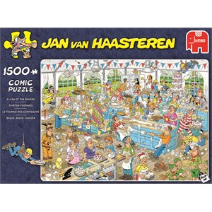 """Jumbo (19077) - Jan van Haasteren: """"Bager-kampen"""" - 1500 brikker puslespil"""