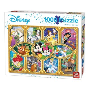 "King International (05279) - ""Disney Magical Moments"" - 1000 brikker puslespil"