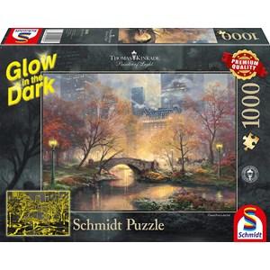"Schmidt Spiele (59496) - Thomas Kinkade: ""Central Park in Autumn"" - 1000 brikker puslespil"