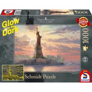 "Schmidt Spiele (59498) - Thomas Kinkade: ""Statue of Liberty"" - 1000 brikker puslespil"