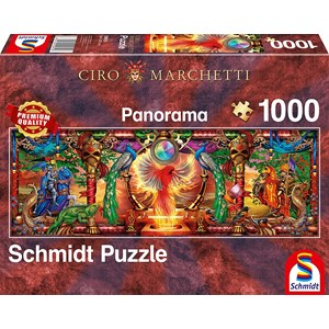 "Schmidt Spiele (59615) - Ciro Marchetti: ""In the Kingdom of the Firebird"" - 1000 brikker puslespil"
