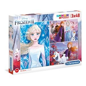 "Clementoni (25240) - ""Disney Frozen 2"" - 48 brikker puslespil"