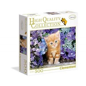"""Clementoni (95977) - """"Ginger Cat"""" - 500 brikker puslespil"""
