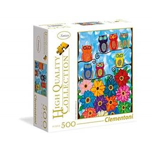 "Clementoni (95978) - ""Cute Little Owls"" - 500 brikker puslespil"