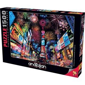 "Anatolian (4545) - ""New York, Nytårsfyrværkeri"" - 1500 brikker puslespil"