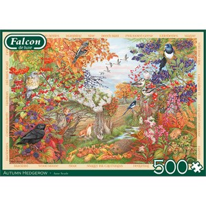 """Falcon (11270) - Anne Searle: """"Autumn Hedgerow"""" - 500 brikker puslespil"""