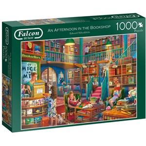 "Falcon (11267) - Eduard Shlyakhtin: ""Afternoon at The Bookshop"" - 1000 brikker puslespil"