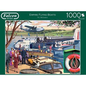 "Falcon (11194) - Victor McLindon: ""Empire Flying Boats"" - 1000 brikker puslespil"