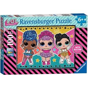 """Ravensburger (12881) - """"LOL Surprise"""" - 100 brikker puslespil"""