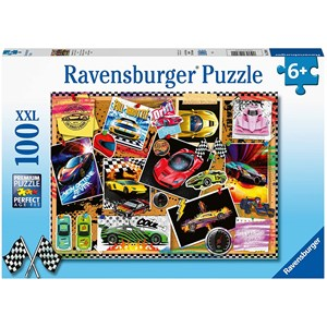 "Ravensburger (12899) - ""Race Cars"" - 100 brikker puslespil"