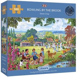 "Gibsons (G3125) - Steve Crisp: ""Bowling by the Brook"" - 500 brikker puslespil"