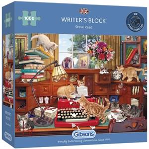 """Gibsons (G6290) - Steve Read: """"Writer's Block"""" - 1000 brikker puslespil"""