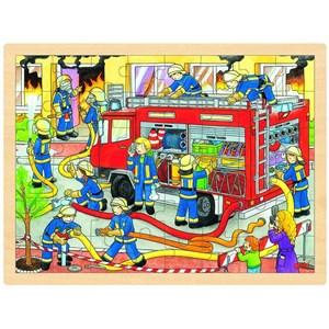 "Goki (57527) - ""Brandmandsteam"" - 48 brikker puslespil"