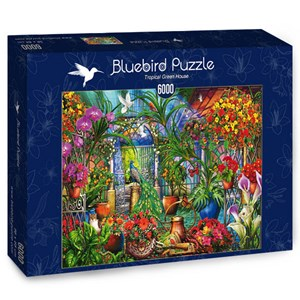"Bluebird Puzzle (70258) - Ciro Marchetti: ""Tropical Green House"" - 6000 brikker puslespil"