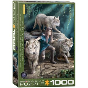 "Eurographics (6000-5476) - Anne Stokes: ""Tre Ulve"" - 1000 brikker puslespil"