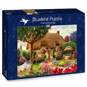 """Bluebird Puzzle (70319) - Adrian Chesterman: """"Thatched Cottage"""" - 1000 brikker puslespil"""