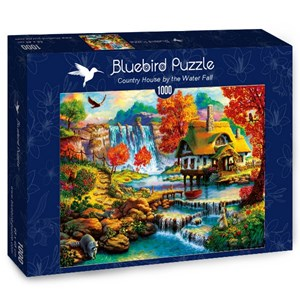 """Bluebird Puzzle (70339) - """"Country House by the Water Fall"""" - 1000 brikker puslespil"""