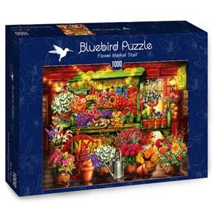 "Bluebird Puzzle (70333) - Ciro Marchetti: ""Flower Market Stall"" - 1000 brikker puslespil"