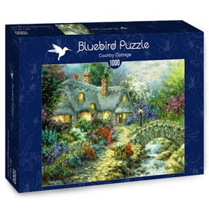 """Bluebird Puzzle (70064) - Nicky Boehme: """"Country Cottage"""" - 1000 brikker puslespil"""