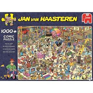 """Jumbo (19073) - Jan van Haasteren: """"The Toy Shop"""" - 1000 brikker puslespil"""