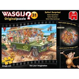"""Jumbo (19164) - """"Wasgij Original 31, Safari Surprise"""" - 1000 brikker puslespil"""