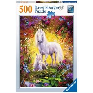 "Ravensburger (14825) - ""Unicorn and Foal"" - 500 brikker puslespil"