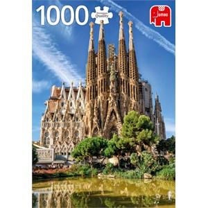 "Jumbo (18835) - ""Sagrada Familia View, Barcelona"" - 1000 brikker puslespil"