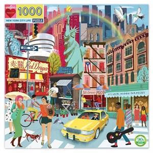 "eeBoo (EPZTNYL) - ""New York Life"" - 1000 brikker puslespil"