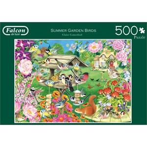 "Falcon (11253) - Claire Comerford: ""Summer Garden Birds"" - 500 brikker puslespil"