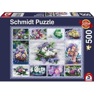 "Schmidt Spiele (58366) - ""Bouquet of Flowers"" - 500 brikker puslespil"